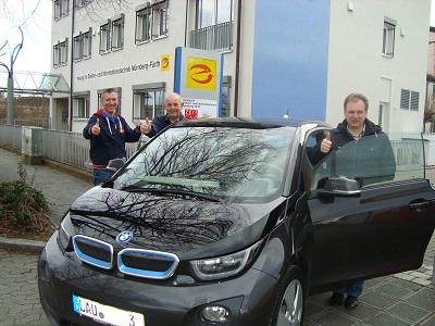 BMW i3 von der Firma Hans Mayer Elektrotechnik aus Lauf a. d. Pegnitz.